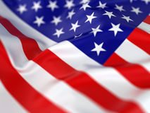 Majestic American Flag Stock Images