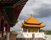 Majestic ancient chinese pavillion. In asian temple Stock Images