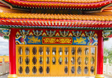 Majestic ancient chinese pavillion. In asian temple Stock Photo