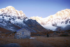 Annapurna range of the himalayas Stock Images