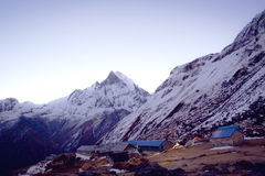 Annapurna range of the himalayas Royalty Free Stock Images
