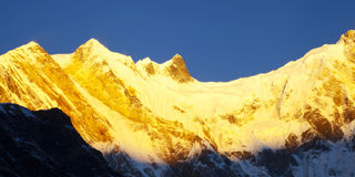 Annapurna range of the himalayas Royalty Free Stock Image