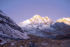 Annapurna range of the himalayas Stock Photo