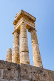 Majestic Apollo ruins on Rhodes Royalty Free Stock Image
