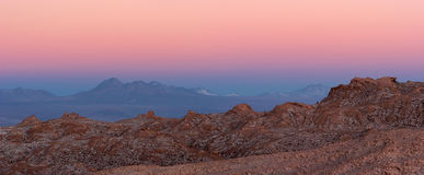 Majestic Atacama Desert sunset panorama, Chile Stock Photos