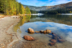 Majestic autumn landscape,St Anna lake,Transylvania,Romania,Europe Stock Images