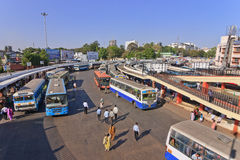 Bangalore main bus station Royalty Free Stock Image