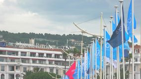 Majestic barriere hotel in Cannes. Best prices for rooms stock video footage