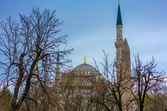 Majestic Blue Mosque In Istanbul, Turkey stock photos