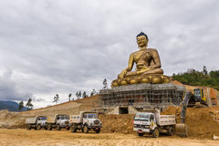 Majestic Buddha Statue In Bhutan Stock Photography