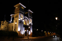 Majestic building in Baia Mare. Majestic building from Baia Mare Romania.  Shot at night Royalty Free Stock Photography