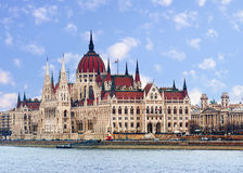 Majestic building of Parliament in Budapest Royalty Free Stock Photos