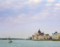 Majestic building of Parliament in Budapest Royalty Free Stock Images
