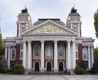 Majestic building with rich history and many exquisite ornaments royalty free stock image