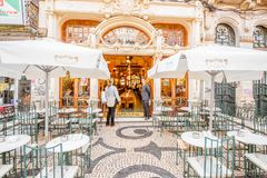 Majestic cafe in Porto Stock Photos