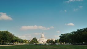 Timelapse video: The majestic capitol building in Washington, DC. The majestic capitol building in Washington, DC. 4K video stock footage