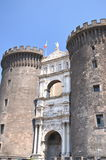 Majestic castel nuovo in naples, Italy Royalty Free Stock Images
