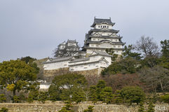 Majestic Castle of Himeji in Japan. Royalty Free Stock Photos