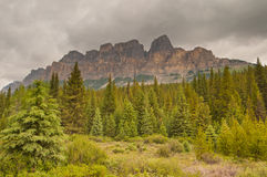 Majestic castle mountain Royalty Free Stock Image