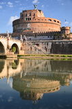 Majestic Castle of Saint  Angel over the Tiber river in Rome, Italy Royalty Free Stock Photos