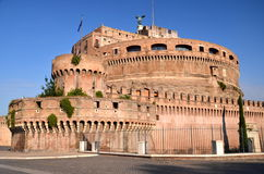 Majestic Castle of Saint  Angel over the Tiber river in Rome, Italy Stock Image