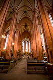 Majestic cathedral interior Royalty Free Stock Photos