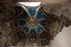 Majestic cathedral interiors. With gold decoration details, Spain, Toledo Stock Image