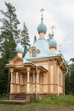 The majestic chapel of the Gethsemane monastery, simplicity and rigor of the structure. Valaam is a cozy and quiet piece of land, the rocky shores of which Stock Photo