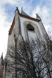 Majestic church facade under blue sky Stock Photography