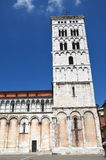 Majestic church of San Michele in Foro in town Lucca, Italy Royalty Free Stock Image