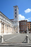Majestic church of San Michele in Foro in town Lucca, Italy Stock Images