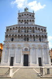 Majestic church of San Michele in Foro in town Lucca, Italy Royalty Free Stock Photo