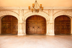 Majestic Classic Arched Doors with Chandelier� Stock Images