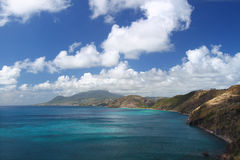 Majestic coastline of Saint Kitts Royalty Free Stock Photography
