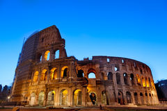 Majestic Coliseum photographed early in the morning at sunrise. Rome,Italy Stock Image
