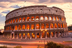 The Majestic Coliseum, Rome, Italy. Royalty Free Stock Images