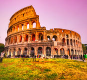 The Majestic Coliseum, Rome, Italy. Stock Photos