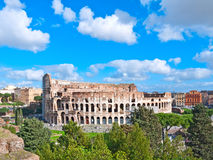 The Majestic Coliseum. Rome, Italy.View from Palatine Hill Stock Image