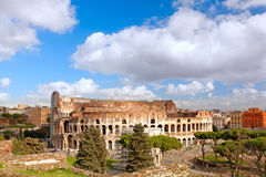 The Majestic Coliseum. Rome, Italy.View from Palatine Hill Stock Photos