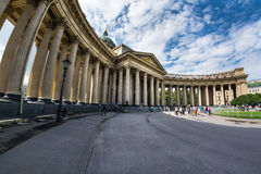 Majestic colonnade of the Kazan Cathedral Royalty Free Stock Image