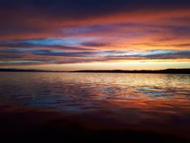 Majestic colored sunset royalty free stock images