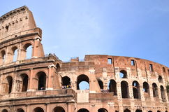 Majestic Colosseum in Rome against blue sky, Italy Stock Image