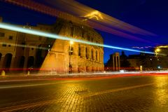 Colosseum twilight, Italy Stock Images