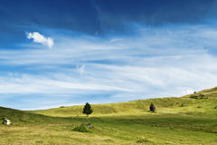 Majestic Countryside Landscape.Dramatic Sky and Meadow Royalty Free Stock Image