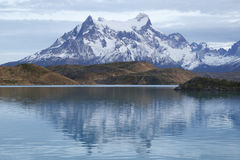 The Majestic Cuernos del Paine reflection in LaTorres del Paine National Park, Patagonia, Chile Stock Image