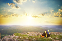 Majestic decline in mountains. Royalty Free Stock Photo