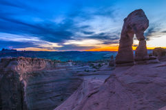 Majestic Delicate arch. Delicate Arch against cool evening sky - Moab Utah Royalty Free Stock Photo