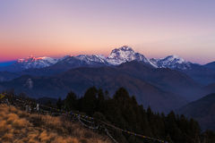 The majestic of Dhaulagiri mountain peak Royalty Free Stock Photography
