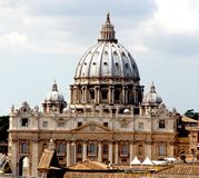 Majestic dome of St. Peter's basilica Royalty Free Stock Images