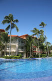 The Majestic Elegance Punta Cana 5-star All-inclusive Hotel. PUNTA CANA, DOMINICAN REPUBLIC - JANUARY 1, 2016: The Majestic Elegance Punta Cana 5-star All Royalty Free Stock Photo